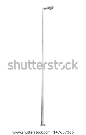 Light pole isolated on white background - stock photo