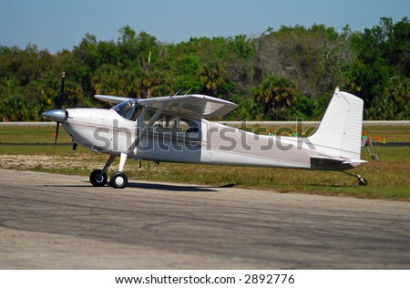 Light private airplane Cessna 180