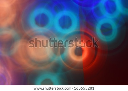 light projection makes psychedelic pattern - stock photo