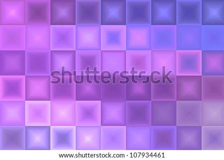 Light Purple Blue Abstract Tiles Background - stock photo