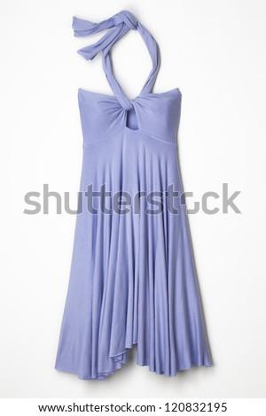 Light Purple Woman's Halter Dress - stock photo