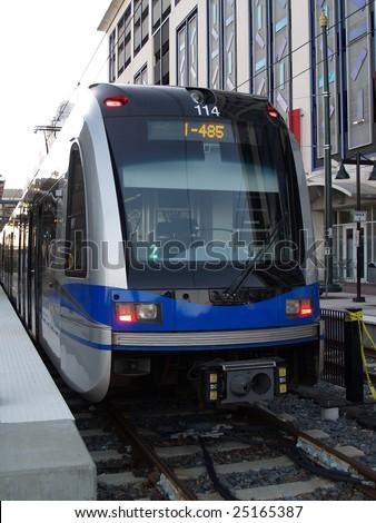 Light rail system - stock photo