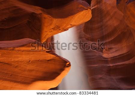 Light ray in Antelope Canyon near Page, Arizona - stock photo