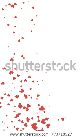 Light Red Vertical Abstract Small Hearts Stock Illustration ...