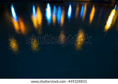 light reflecting on the water.