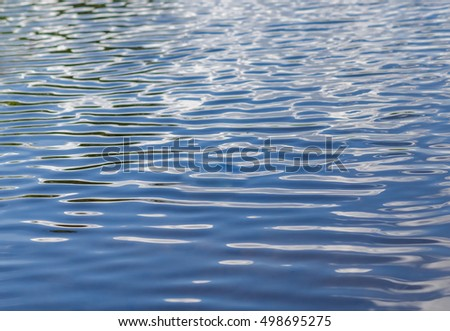 Light ripples on the blue water.