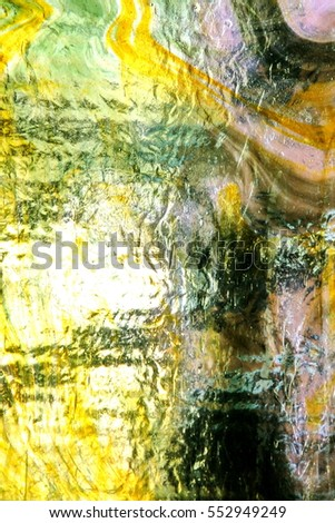 Light shining through glass privacy window. Abstract background