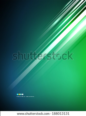 Light shiny straight lines on color background. Abstract design template - stock photo