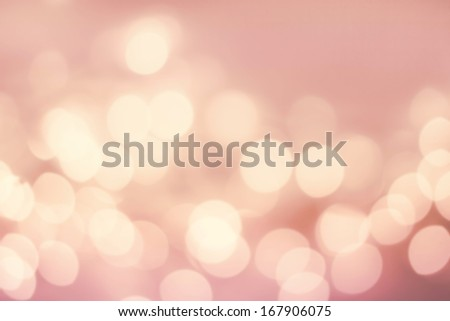Light silver abstract Christmas background with glowing magic bokeh - stock photo