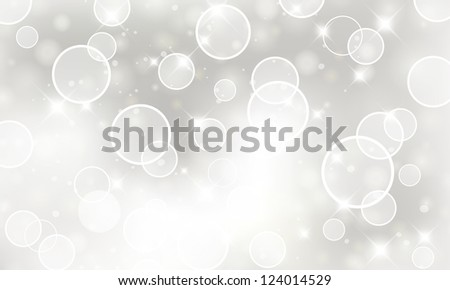 Light silver abstract Holiday business card. For vector version, see my portfolio.