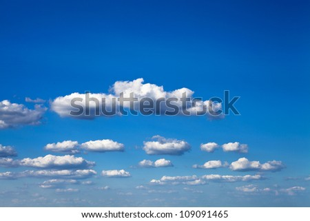 light sky in summer weather - stock photo