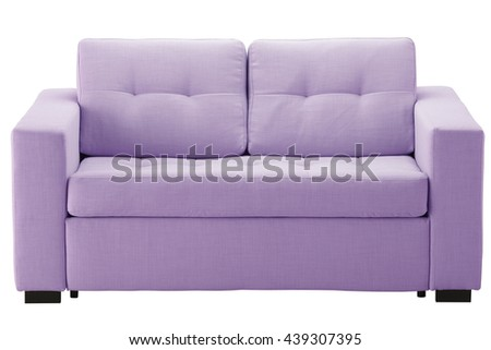 Light sofa isolated on white include clipping path