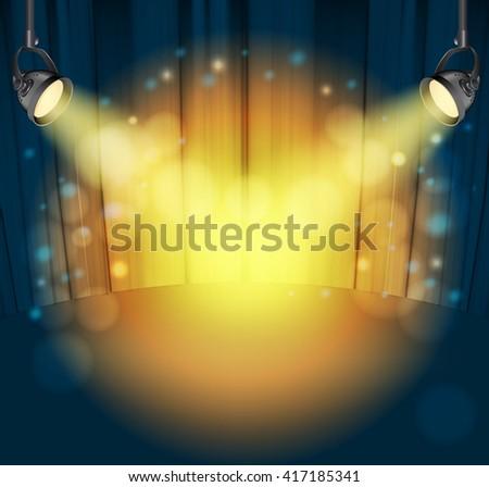 light spots on curtains background. raster - stock photo