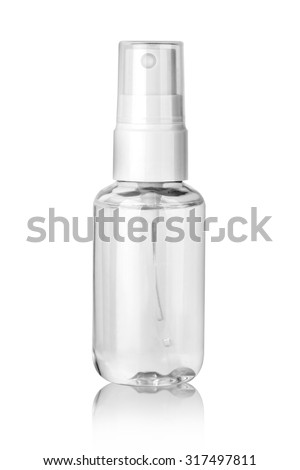 Light spray bottle isolated on a white background with clipping path - stock photo
