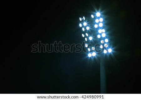 Light stack  at a sports stadium at night