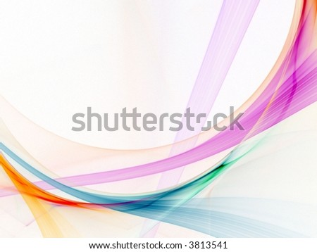 Light strands of bright colors (computer generated, fractal abstract background) - stock photo