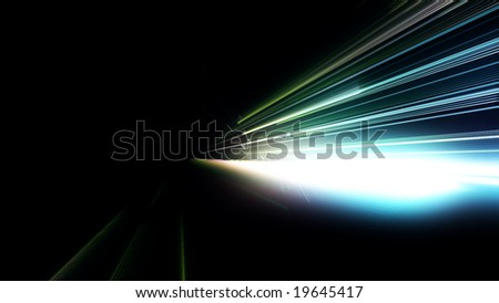 Light streaks - stock photo