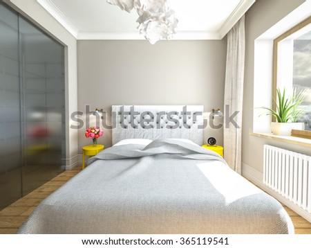Light, sweet bedroom - stock photo