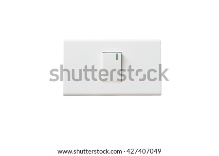 light switch isolated. - stock photo