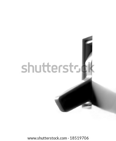 Light switch on wall inside a home - stock photo
