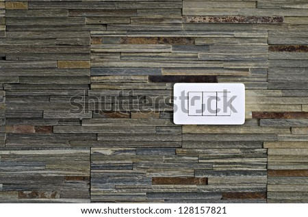 Light switches on the wall - stock photo