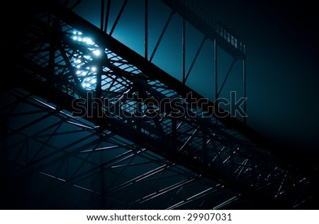 light through a design - stock photo