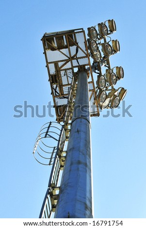 light tower in stadium