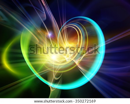 Light Trail series. Abstract composition of light trails and forms suitable as element in projects related to graphic design, science and technology - stock photo
