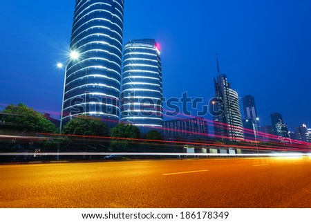 light trails on the street