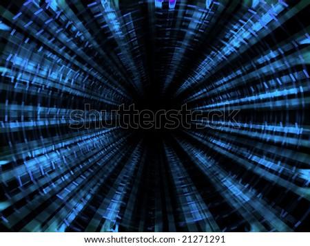 Light tunnel - stock photo