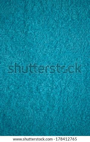 light turquoise bath towel surface texture - stock photo