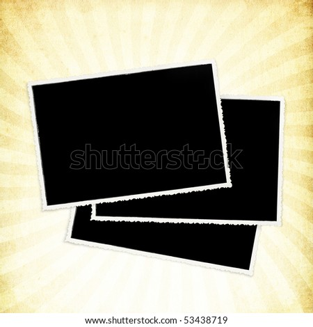 Light vintage textured paper with rays image. - stock photo