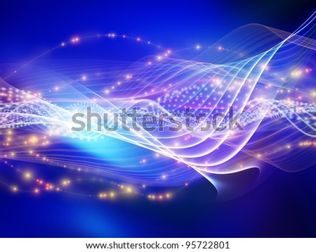 Light wave background suitable as a backdrop for projects on technology, entertainment, communications, sound and audio - stock photo