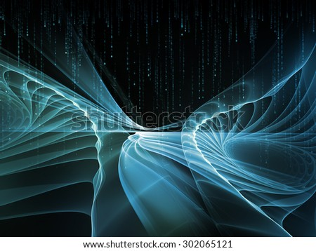 Light Waves series. Abstract design made of fractal waves and motion trails on the subject of design, science and modern technologies - stock photo