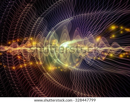 Light Waves series. Abstract design made of light curves and sine waves on the subject of design, science and modern technologies - stock photo