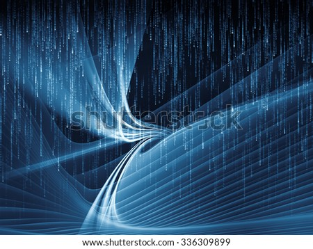 Light Waves series. Arrangement of fractal waves and motion trails on the subject of design, science and modern technologies - stock photo