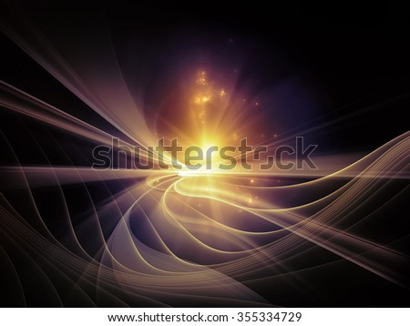 Light Waves series. Backdrop of fractal waves and motion trails on the subject of design, science and modern technologies - stock photo