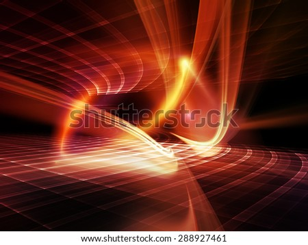 Light Waves series. Background composition of  light curves and sine waves on the subject of design, science and modern technologies - stock photo