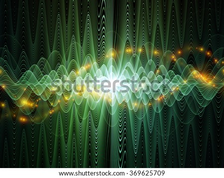 Light Waves series. Composition of light curves and sine waves suitable as a backdrop for the projects on design, science and modern technologies - stock photo