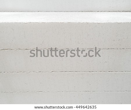 Light weight cellular concrete block for texture background