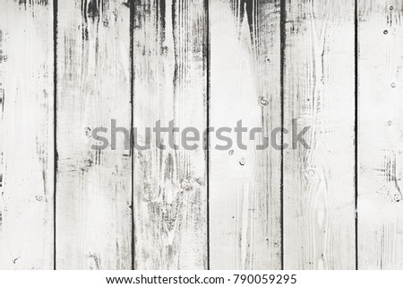 Light wood background, top view. Rustic wooden wall texture. Surface with old natural white wooden pattern.