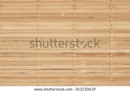 Light wooden bamboo mat