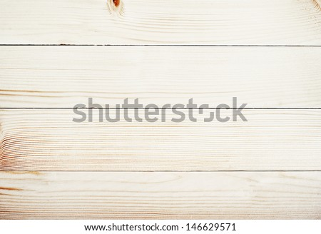 light wooden planks texture with branch - stock photo