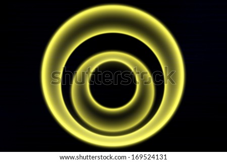 Light yellow circle on a black background, Yellow circles, Illustration