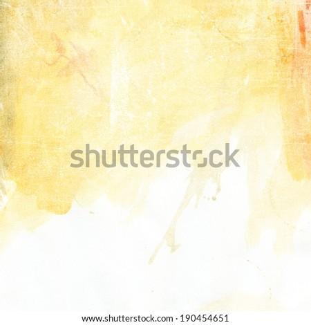 light yellowed grunge background texture paper - stock photo