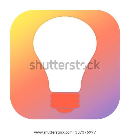 Lightbulb icon - stock photo