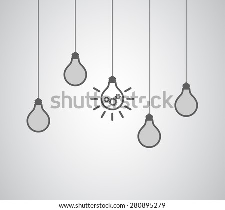 lightbulb idea concept gears cogswheel teamwork business design - stock photo