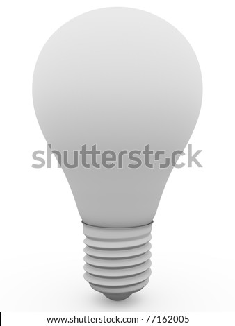 lightbulb in white. Concept of power. Symbol of an idea - stock photo