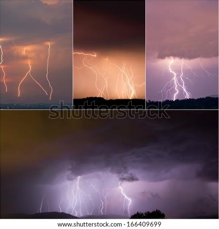lightenings - stock photo