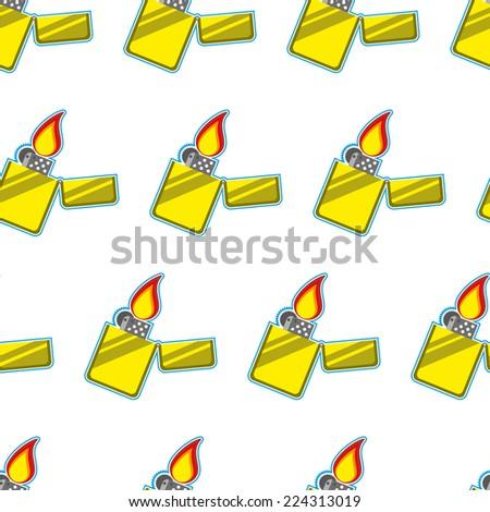 lighter  seamless pattern illustration clip art - stock photo